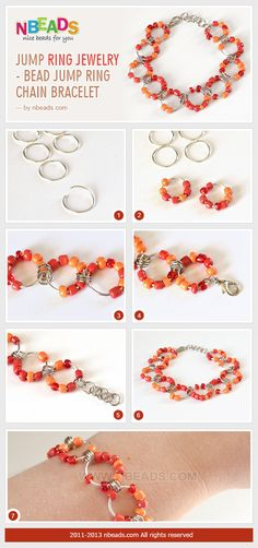 Summary: Chain maille jump rings could be designed to a piece of jewelry. How your jump ring jewelry looks depends on the ways of jump rings linking. For this project of bracelet jewelry, you will need not only jump rings but also need seed beads to decor