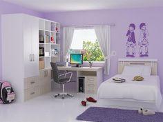 Young Girl Bedroom Ideas | girls-bedroom-interior-ideas-soft-violet-girl-bedroom-home-design ...