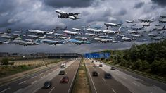 Airportraits: Composite Flight Path Photos Capture Planes Landing and Departing from Worldwide Airports | Colossal