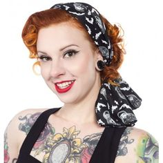 Our satiny Bad Girl Scarf is the perfect length for versatility! You'll love the multitude of ways you can style it - as a hair accessory, tied around your neck in a sassy bow, or tied onto a bag for a dash of fun. This all-over print of spooky matryoshka dolls and bats will be a great addition to any outfit!