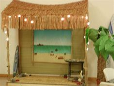 Beach Theme VBS (Option for Surf Shack VBS! Use the Decorating Mural and add… Vbs Themes, Ocean Themes, Beach Themes, Party Themes, Party Ideas, Island Theme Parties, Island Crafts, Vbs Crafts, Bible Crafts