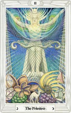 II - La grande prêtresse - Tarot Thoth par Aleister Crowley
