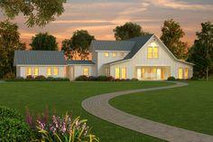 Houseplans.com Agroturismo Otros Plan de Elevación # 888-1
