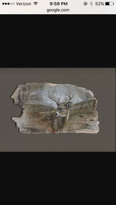 Painting on birch bark