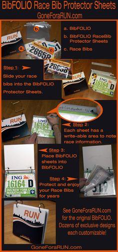 BibFOLIO Running Race Bib Vinyl Protector Sheets