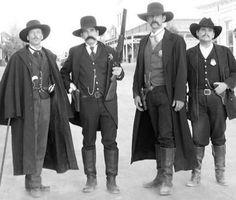 Doc Holiday, Wyatt Earp, & brothers Virgil & Morgan Earp.