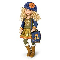 """""""Goldilocks"""" Contemporary-Look Jointed Doll By Dianna Effner"""
