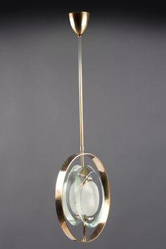 Nov 20 Lantern Max Ingrand Fontana Arte Italy (Milan) ca. 1961 Etched and polished lens-like glasse. Luminaire Design, Lamp Design, Pendant Chandelier, Chandelier Lighting, Cool Lighting, Lighting Design, Ceiling Lamp, Ceiling Lights, Interior Lighting