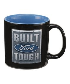 Take a look at this Black 'Ford Built Tough' Embossed Coffee Mug by Vandor on #zulily today!