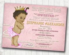 Diaper party baby shower invitations sht just got real invite girl baby shower invitation vintage baby shower invitation for girl rhinestones pearls pink filmwisefo
