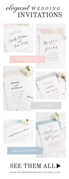 Need wedding invitations?  Click to shop over 100 gorgeous designs for every style of wedding, plus stunning envelope liners that can be personalized in your choice of color and pattern to create the perfect look for your stationery!  Complimentary sample