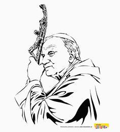 Saint John Paul II coloring page Saint Teresa Of Calcutta, Wall Clock Sticker, St Joan, Angel Drawing, Pope John Paul Ii, Christmas Drawing, Scroll Saw Patterns, Gifts For Office, Kirchen
