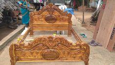 Wood Bed Design, Bedroom Bed Design, Bed Furniture, Furniture Design, Carved Beds, Pooja Room Door Design, Beaded Boxes, Cots, Wood Carving Art