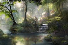 "illustrateyourworld: "" Healing Springs by jjpeabody """