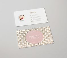 Charlie double sided business card Instant by deideigraphic