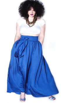 JIBRI High Waist Belted Maxi Skirt — JIBRI