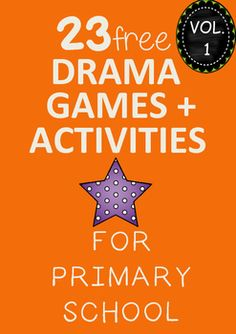 A FREE collection of drama games and activities suitable for Grade 3 to Grade 6 students. This is number 1 of 2 volumes so make sure you grab both. Volume 1 has 23 games + activities and Volume 2 has 23 games + activities.
