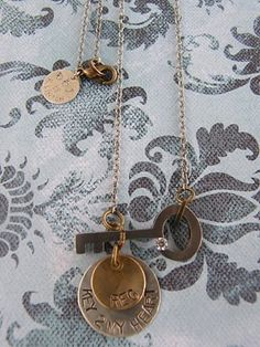 Key to my heart necklace Beautiful & looks so easy to make ; )