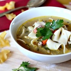 The Barefoot Contessa's Classic Chicken Noodle soup is the perfect quick meal for those frigid December nights.