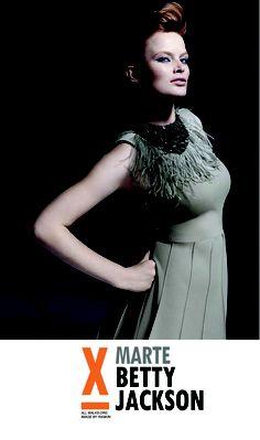 Marte Boneschansker wears Betty Jackson for All Walks' SNAPPED campaign, shot by Rankin National Portrait Gallery, Walks, Catwalk, Peplum Dress, Jackson, Fashion Photography, Campaign, Management, Celebrities