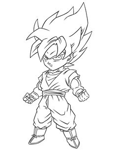 Kid Goten Colouring Pages Page