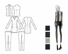 Fashion Sketchbook - fashion design drawings; fashion student portfolio // Xinquan Li