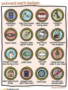 omg awkward merit badges.... how many have you gotten?