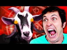 Goat Simulator: DEMONIC GOAT FROM HELL Big Eyed Stuffed Animals, Goat Simulator, Goats, Funny, Youtube, Funny Parenting, Hilarious, Youtubers, Youtube Movies