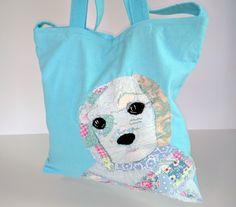 dog, puppy, dog bag, tote, shoulder bag, gift, Birthday gift £12.00