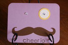 Cheerio Mustache Card  www.hs-homemade.blogspot.com