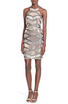 Way-In Sequin Halter Body-Con Dress available at #Nordstrom