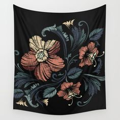 Floral on Black available in three distinct sizes, our Wall Tapestries are made of 100% lightweight polyester with hand-sewn finished edges. Featuring vivid colors and crisp lines, these highly unique and versatile tapestries are durable enough for both indoor and outdoor use. Machine washable for outdoor enthusiasts, with cold water on gentle cycle using mild detergent - tumble dry with low heat.
