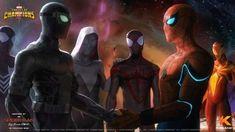 Iron Heart Marvel, Contest Of Champions, Marvel Vs, X Men, Deadpool, Chibi, Spiderman, Comics, Wallpaper