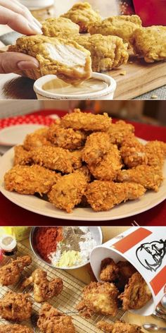 Now everyone can cook KFC chicken in secret .- Now everyone can cook KFC chicken with a secret recipe of 1940 - Low Carb Chicken Recipes, Low Carb Recipes, Cooking Recipes, Kfc, Italian Chicken Dishes, Healthy Oatmeal Breakfast, Fast Food, Food Platters, Secret Recipe