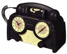 US Basic 1930s Bakelite Clock Radio Phone