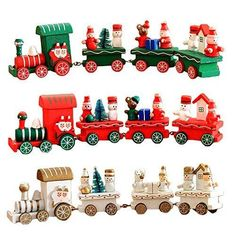 Christmas Party Home Decoration Multicolor Wooden Car Ornament For Kids Children Gift - Party Multicolor Decorations Baby Christmas Gifts, Christmas Train, Christmas Wood, Wooden Baby Toys, Wooden Car, Car Ornaments, Christmas Ornaments, Home Office, Desktop