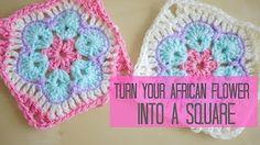 CROCHET: African flower tutorial PART ONE | Bella Coco - YouTube