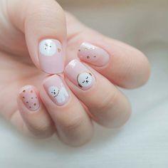 25 Best Holiday Nail Art Designs that Look Natural and Last a Long Time - Wass Sell Korean Nail Art, Korean Nails, Short Nail Designs, Gel Nail Designs, Nails Design, Trendy Nail Art, Cute Nail Art, Swag Nails, Fun Nails