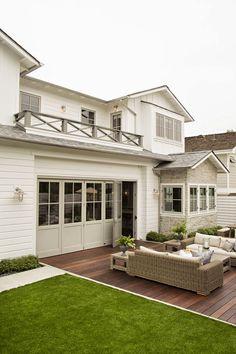 {The Staging Scoop}: Inspired Designer... #gray #trim #folding #doors #exterior