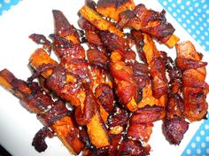 bacon-wrapped cajun sweet potato wedges 	  5.0 from 1 reviews  	  Print  Recipe type: appetizer, side  Prep time: 10 mins  Cook time: 40 mins  Total time: 50 mins  Serves: 4 +  Ingredients        good quality bacon – we used wild boar (pretty thick)      sweet potatoes – peeled and chopped (fairly chunky – into wedges)      a dash or two of Cajun spice      some sea salt