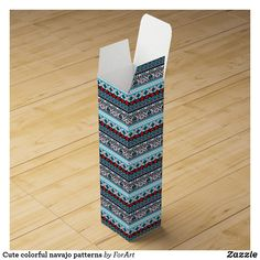 Choose from a variety of Cute gift boxes on Zazzle. Our keepsake boxes are great places to hold valuables like jewelry. Navajo Pattern, Wine Gift Boxes, Champagne Bottles, Surface Design, Color Patterns, Card Stock, Gift Wrapping, Colorful, Simple
