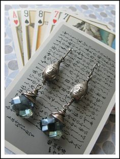 Use playing cards for earrings and other great ideas . . . from Rings and Things blog