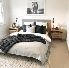 Simple Style Co Homewares, Home Decor & Interior Styling Melbourne is part of Bedroom decor inspiration - Bedroom Apartment, Home Decor Bedroom, Apartment Living, Spare Bedroom Ideas, Simple Spare Room Ideas, Master Bedrooms, Bedroom Inspo, Urban Chic Bedrooms, Bedroom Ideas Grey