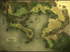 The Map of Valcia This is a map I& created for a novel series currently being worked on. I am a graphic design hobbyist, but this is my first attempt at a fantasy map. The map, and story attribut. Fantasy Map Maker, Fantasy World Map, Fantasy City, Dnd World Map, Rpg World, Medieval, Imaginary Maps, Map Layout, Dungeon Maps