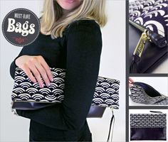 Oversize Zippered Clutch: Must-Have Bags with Fabric.com | Sew4Home