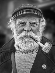 """The Old Fisherman by Paul Crompton"" Photos Portrait Homme, Old Man Portrait, Photo Portrait, Portrait Photography, Male Portraits, Black And White Portraits, Black And White Photography, Old Man Face, Old Fisherman"