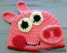 Ateliê Fulana Fulô: Touca de croche Peppa Pig - Com Pap