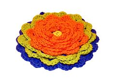 Ravelry: Fanciful Flower Potholders pattern by Claudia Lowman
