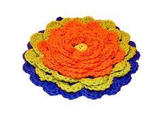 Ravelry: Fanciful Flower Potholders pattern by Claudia Lowman