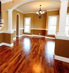 Hardwood Floor Idea. Saw hardwood floors just like this at http://www.simiflooring.com